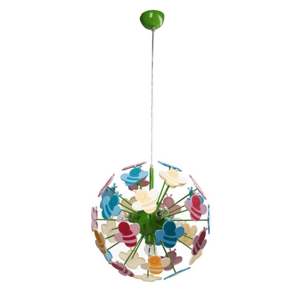 image_Suspension boule abeille multicolore