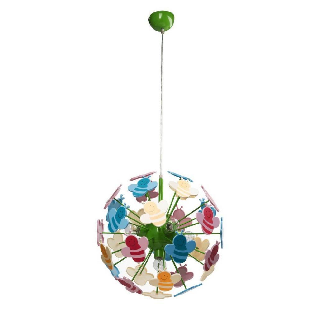 suspension boule abeille multicolore. Black Bedroom Furniture Sets. Home Design Ideas