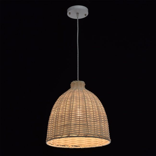 Suspension cloche en osier - Suspension luminaire en osier ...