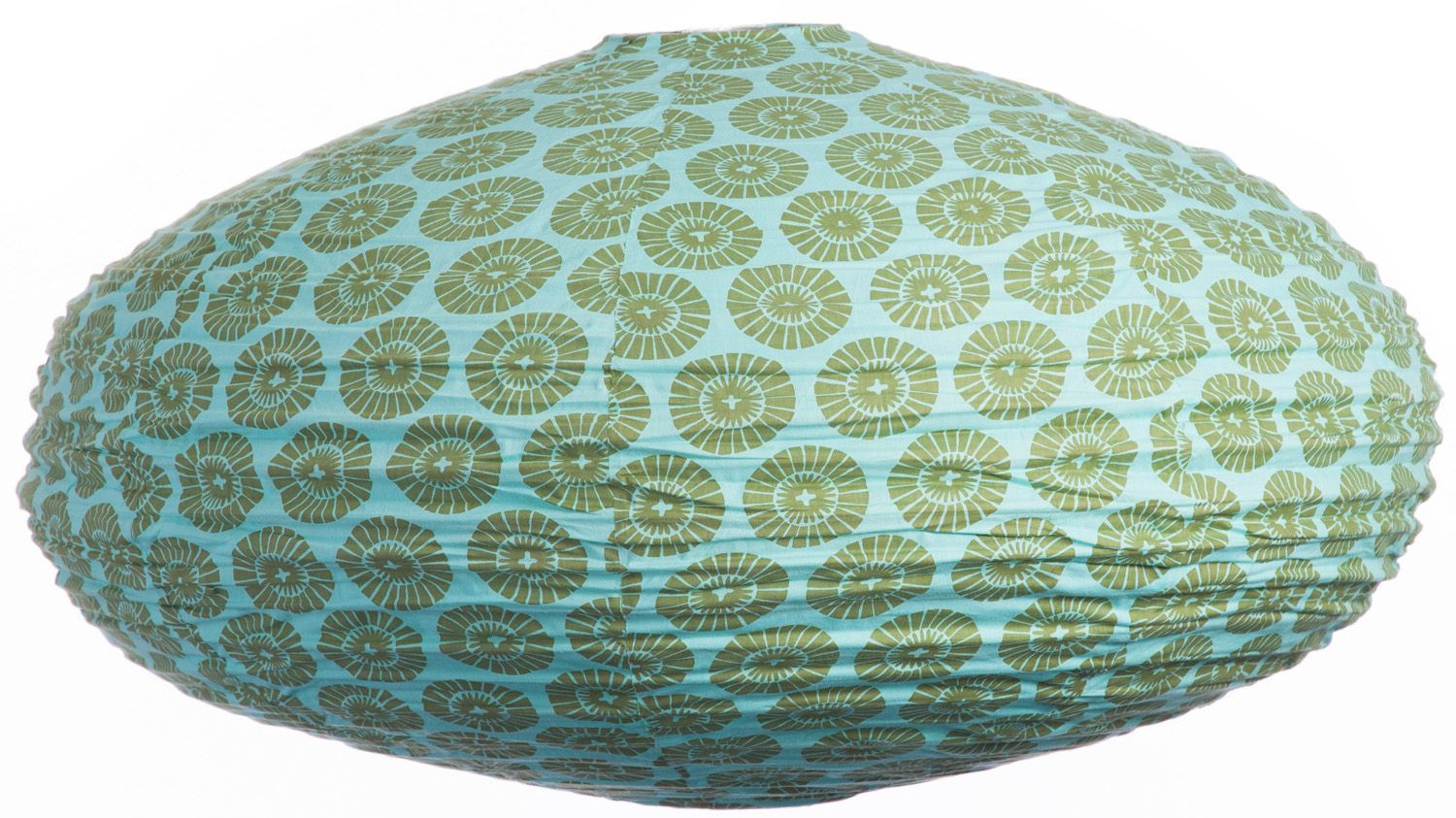 Suspension ovale 80cm Oki Flower aqua & olive by Gong