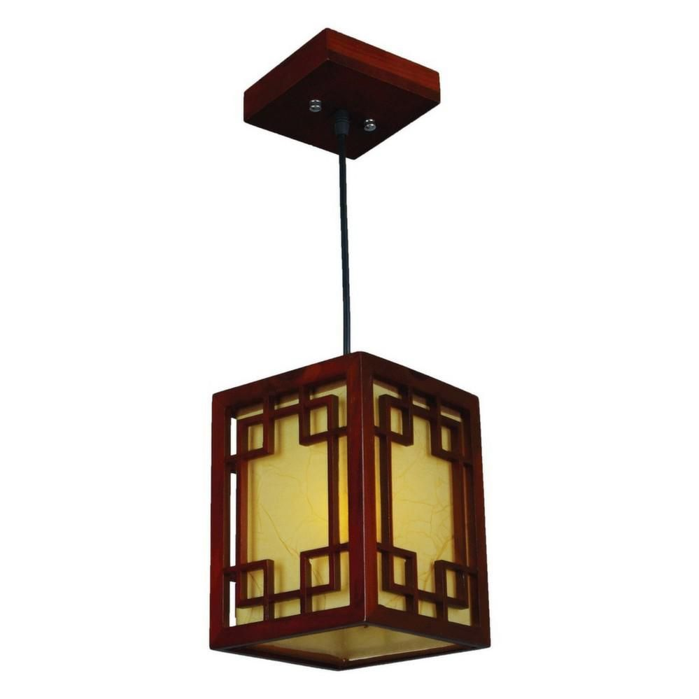 Suspension type chinoise en bois by Mw light