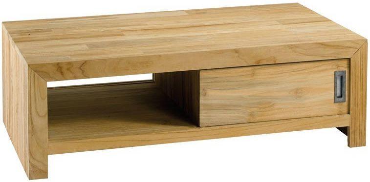 Table basse rectangulaire cosmos en teck massif table for Meuble zago avis