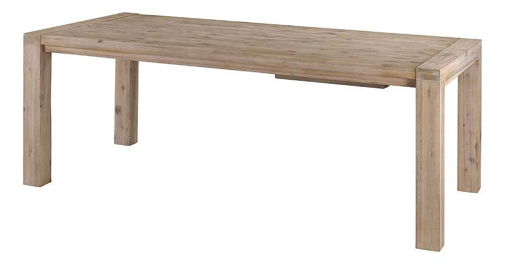 Table 200cm en acacia Nevada avec allonge 50cm-5