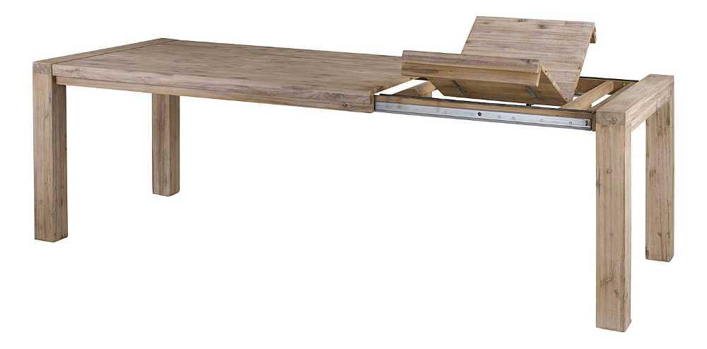 table 160cm nevada en acacia avec allonge 50cm. Black Bedroom Furniture Sets. Home Design Ideas
