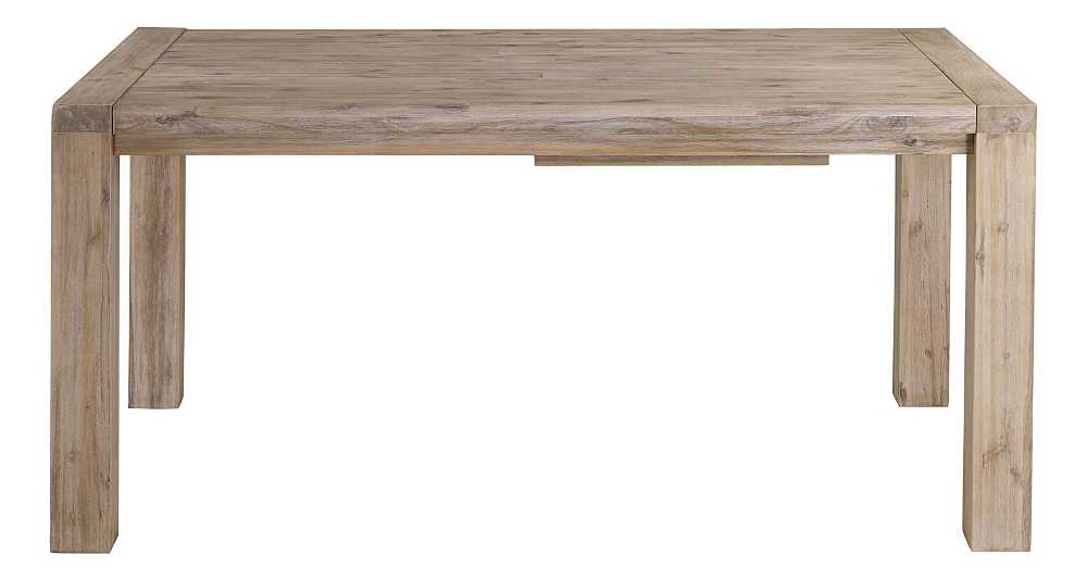 Table 160cm Nevada en acacia avec allonge 50cm
