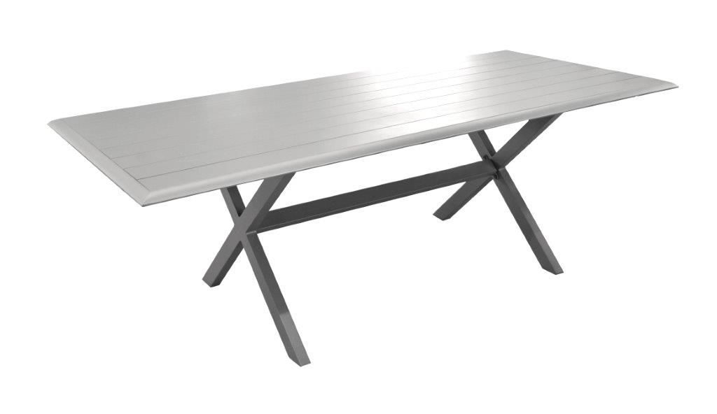 Table aluminium Bridge 220cm sur Jardindeco