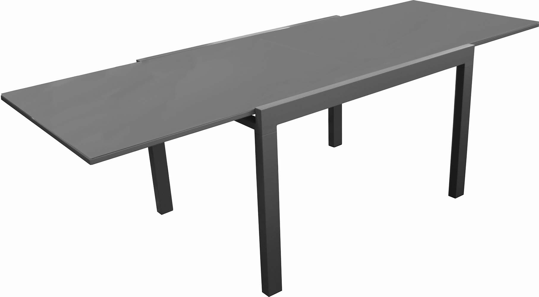 Table en aluminium elise for Table exterieur largeur 60 cm