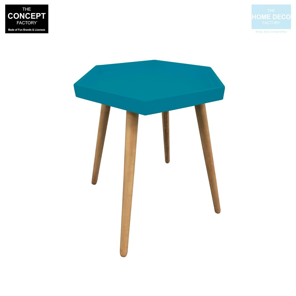 Table d'appoint hexagonale en MDF-1