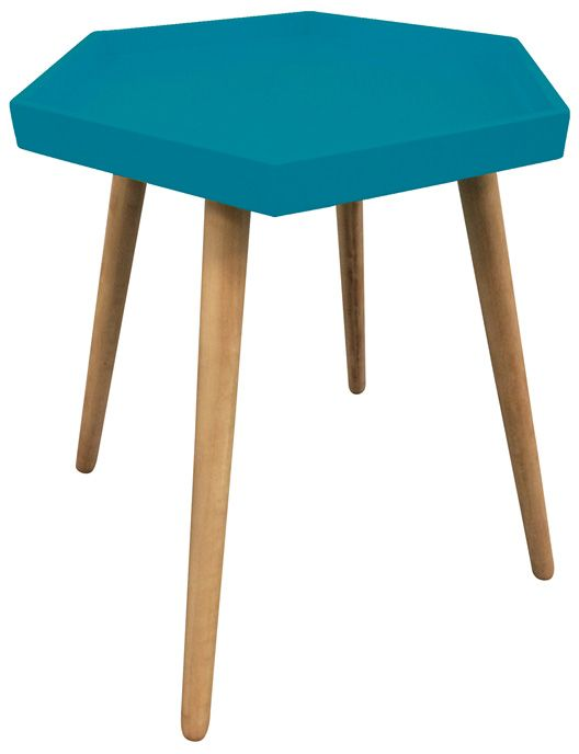 Table d'appoint hexagonale en MDF sur Jardindeco