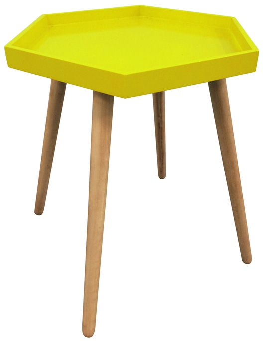 image_Table d'appoint hexagonale en MDF