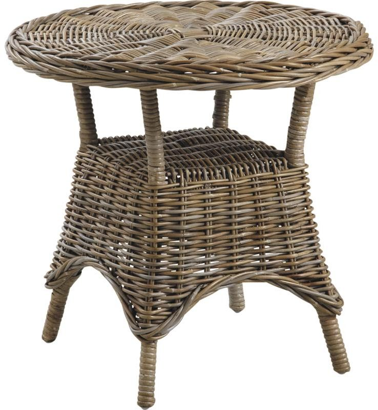Table d 39 appoint ronde en poelet gris - Table d appoint ronde ...