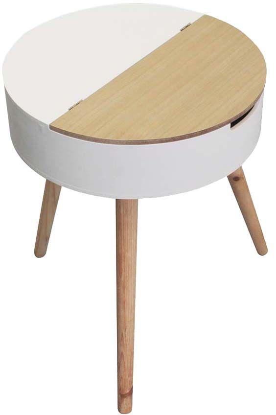 Table d'appoint ronde coffre intégré Vente de THE HOME