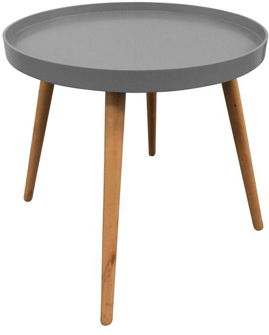 table d 39 appoint ronde avec plateau. Black Bedroom Furniture Sets. Home Design Ideas