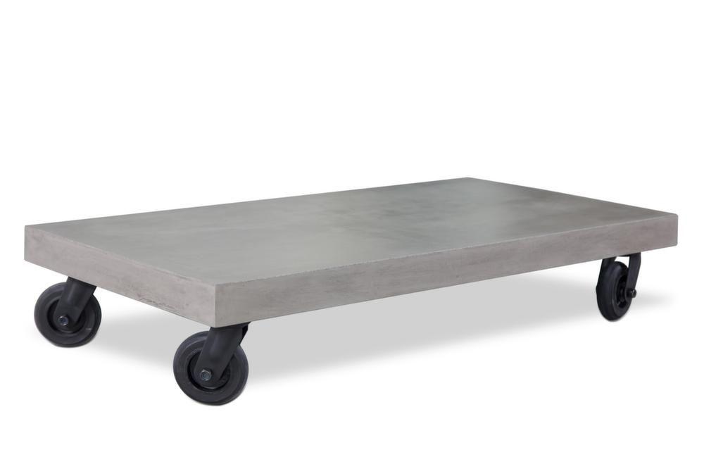 Table basse en b ton avec roulettes hermitage - Table basse avec roulette ...