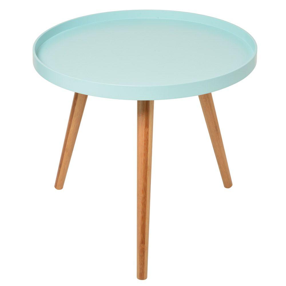 table basse bleue aqua 50x45cm. Black Bedroom Furniture Sets. Home Design Ideas