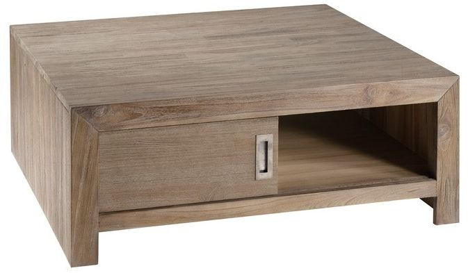 Table basse gris - Table basse carree bois gris ...