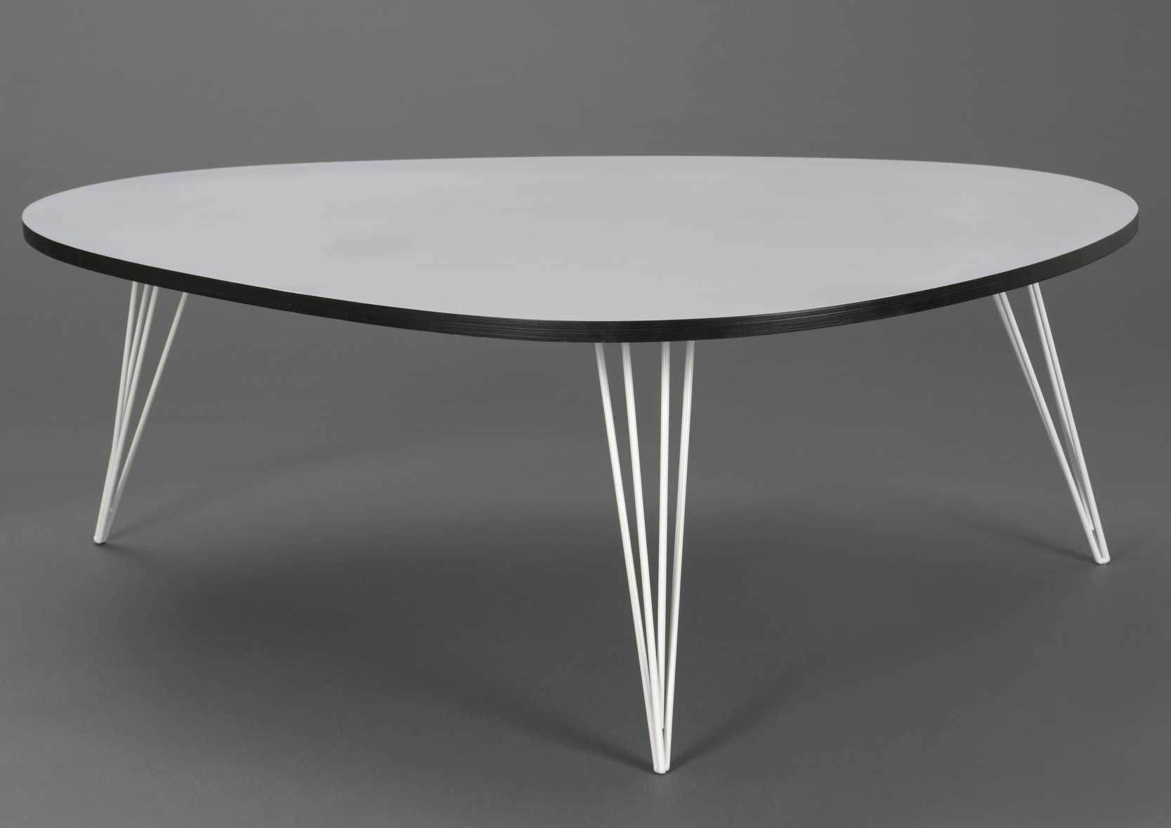 Table basse haricot grise et noire for Table basse haricot