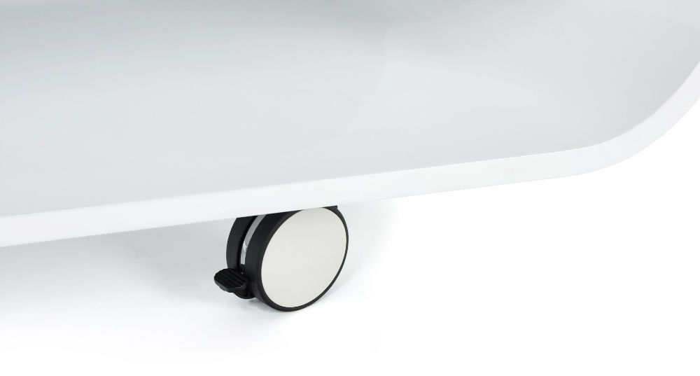 Table basse ovale blanche Glossy-2