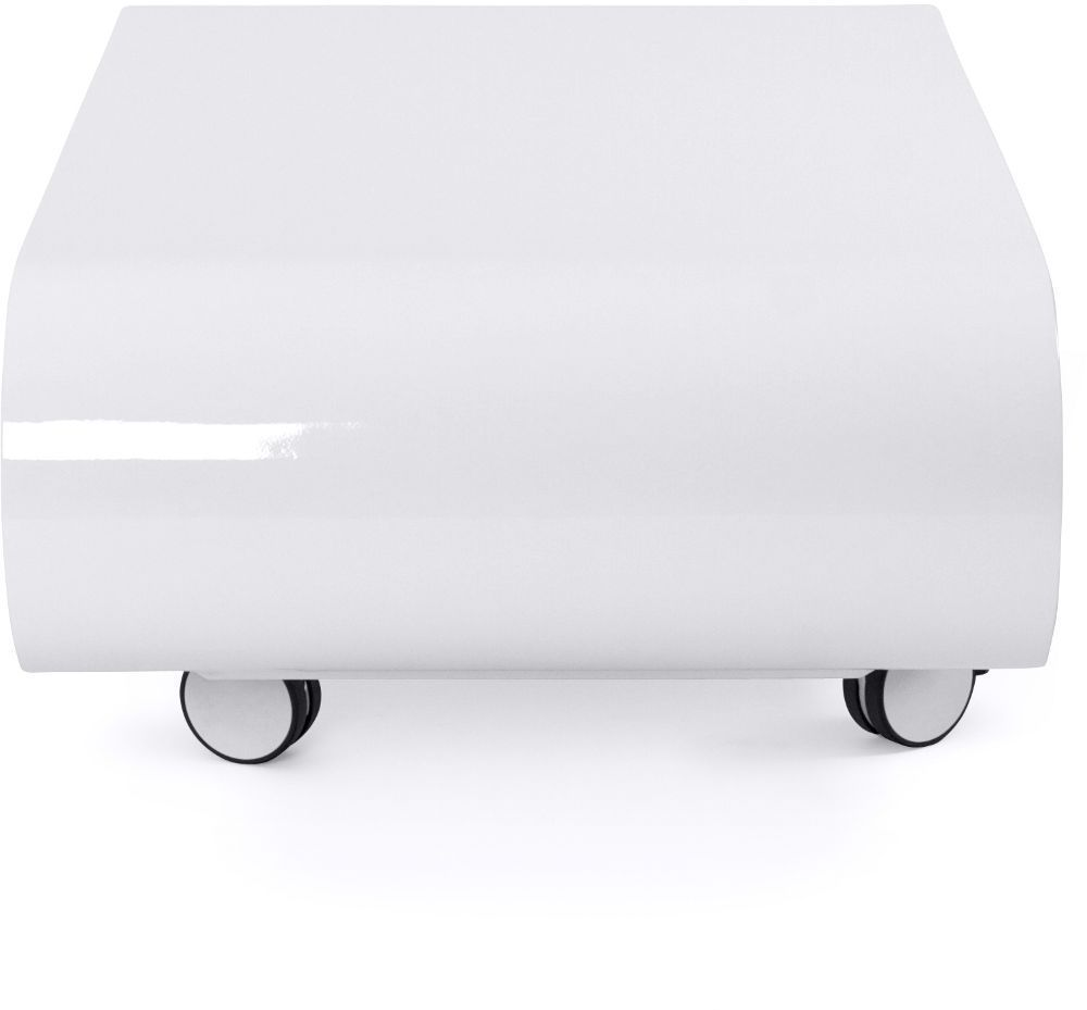 Table basse ovale blanche glossy - Table ovale blanche ...