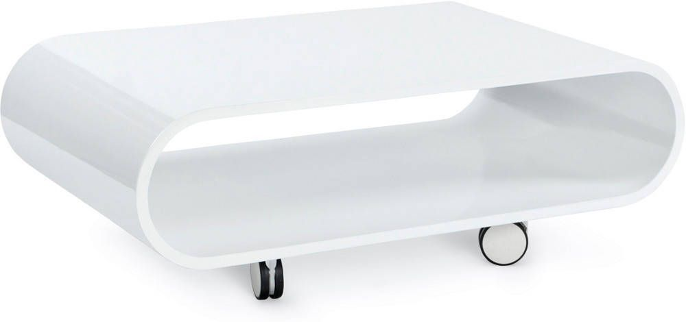 image_Table basse ovale blanche Glossy