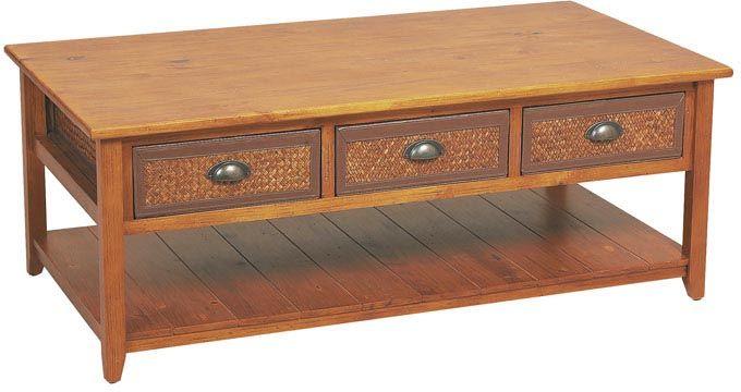 table basse en pin et bambou. Black Bedroom Furniture Sets. Home Design Ideas
