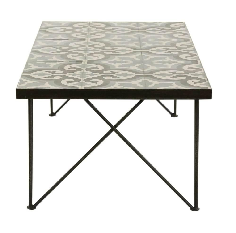 Table basse rectangulaire chic 120 cm for Table salle a manger 120 cm