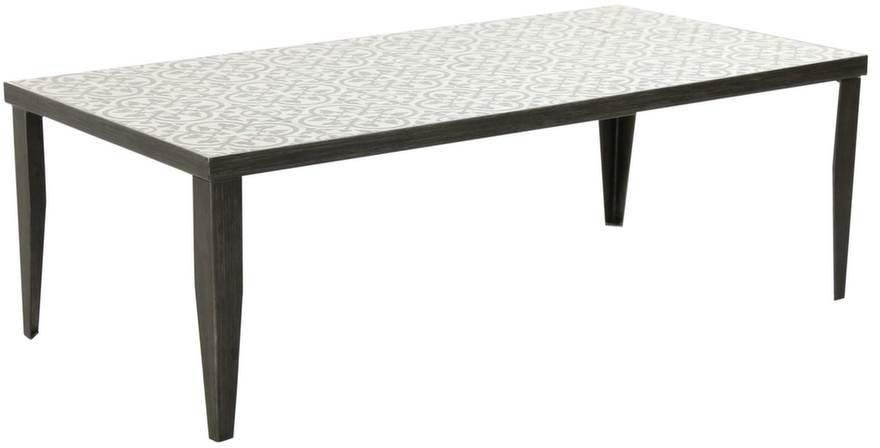 Table basse rectangulaire Elegance 120 cm sur Jardindeco