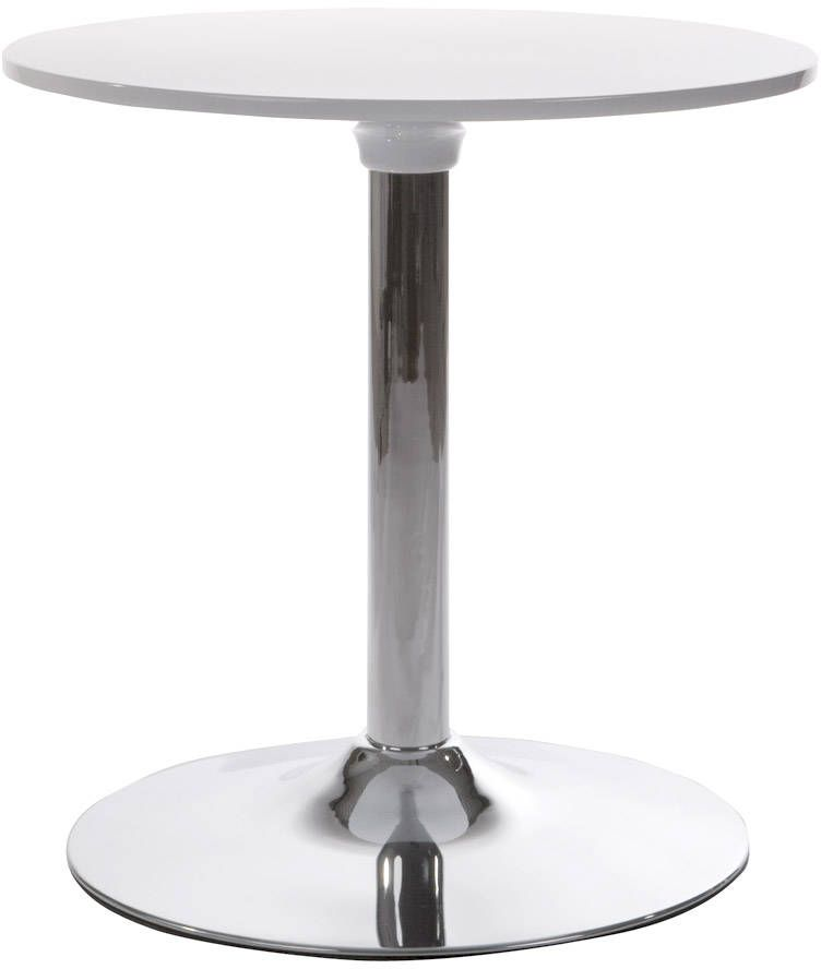 Table basse ronde mars blanc for Table ronde blanc