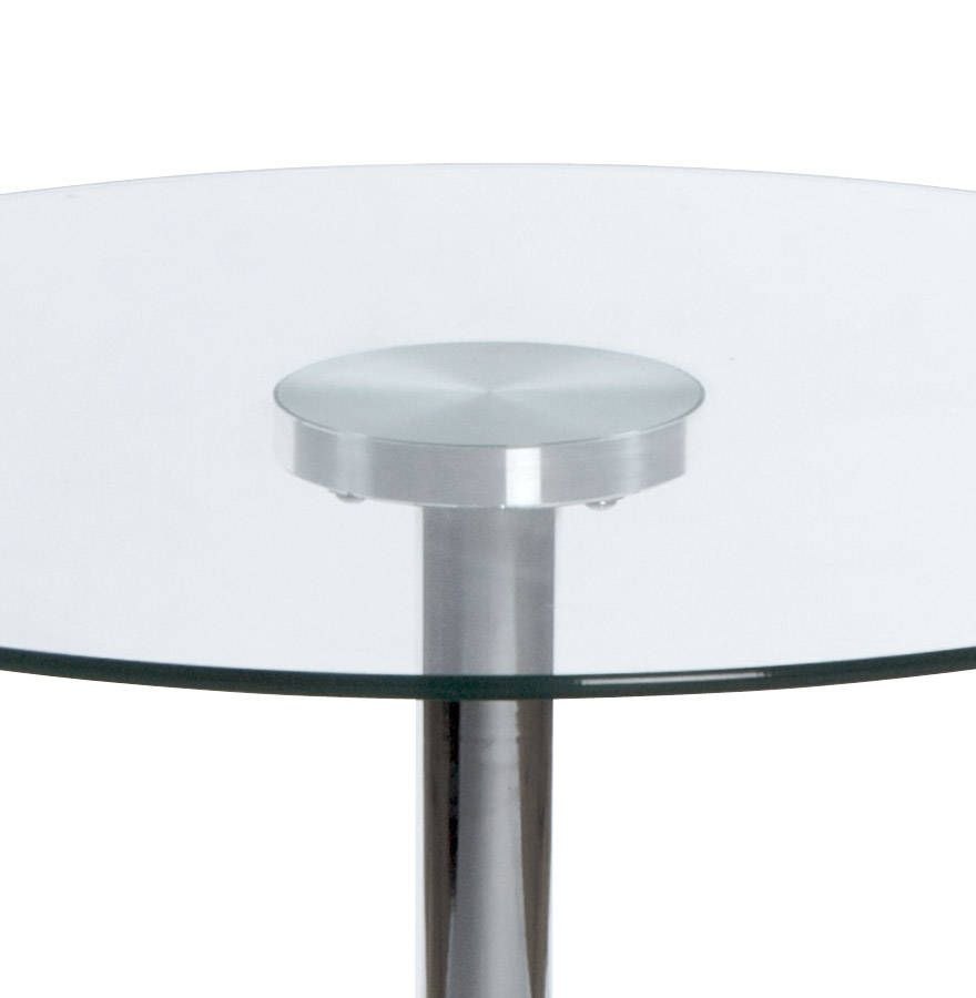 table basse ronde vinyl verre transparent. Black Bedroom Furniture Sets. Home Design Ideas