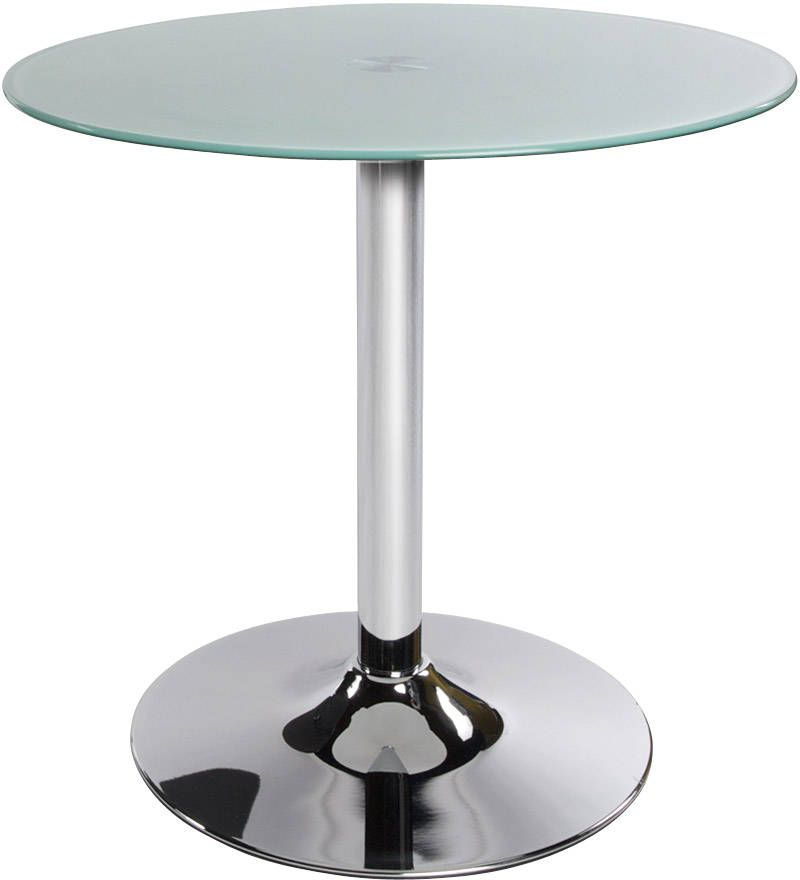 table basse ronde vinyl verre blanc. Black Bedroom Furniture Sets. Home Design Ideas