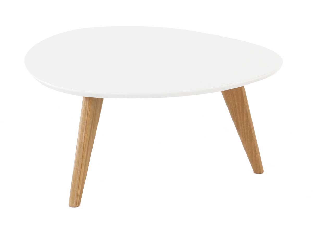 Table basse ronde plateau blanc pixy - Table basse ronde laque blanc ...