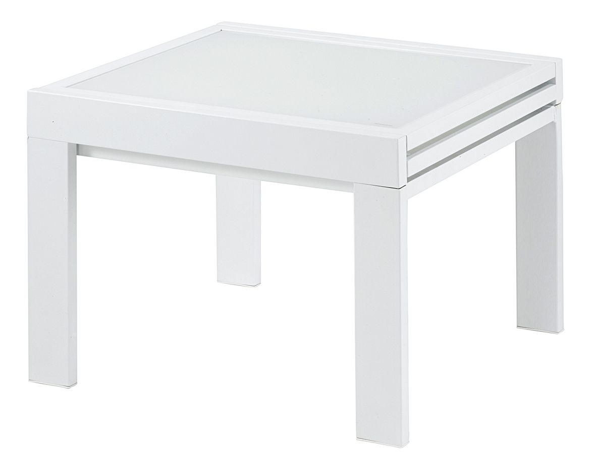 Table carr e blanche julie - Table carree blanche avec rallonge ...