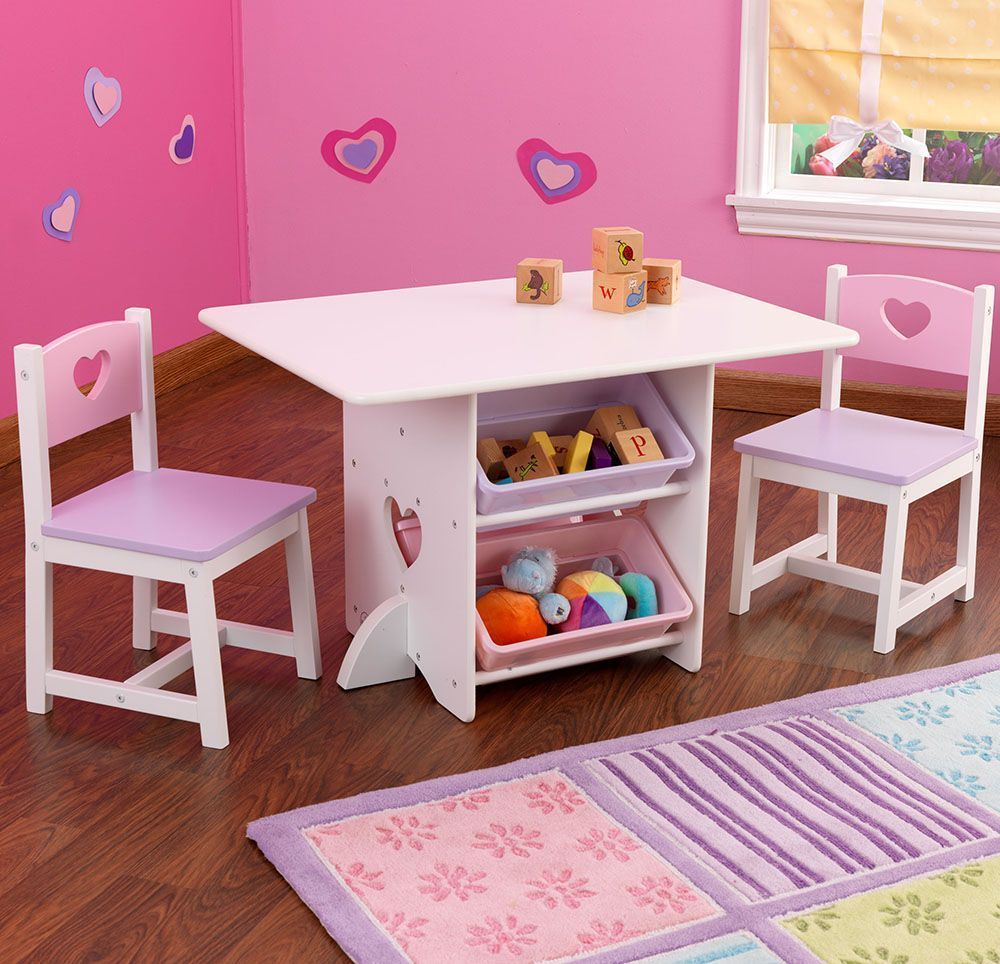 table chaises et bac rangement enfant en bois. Black Bedroom Furniture Sets. Home Design Ideas