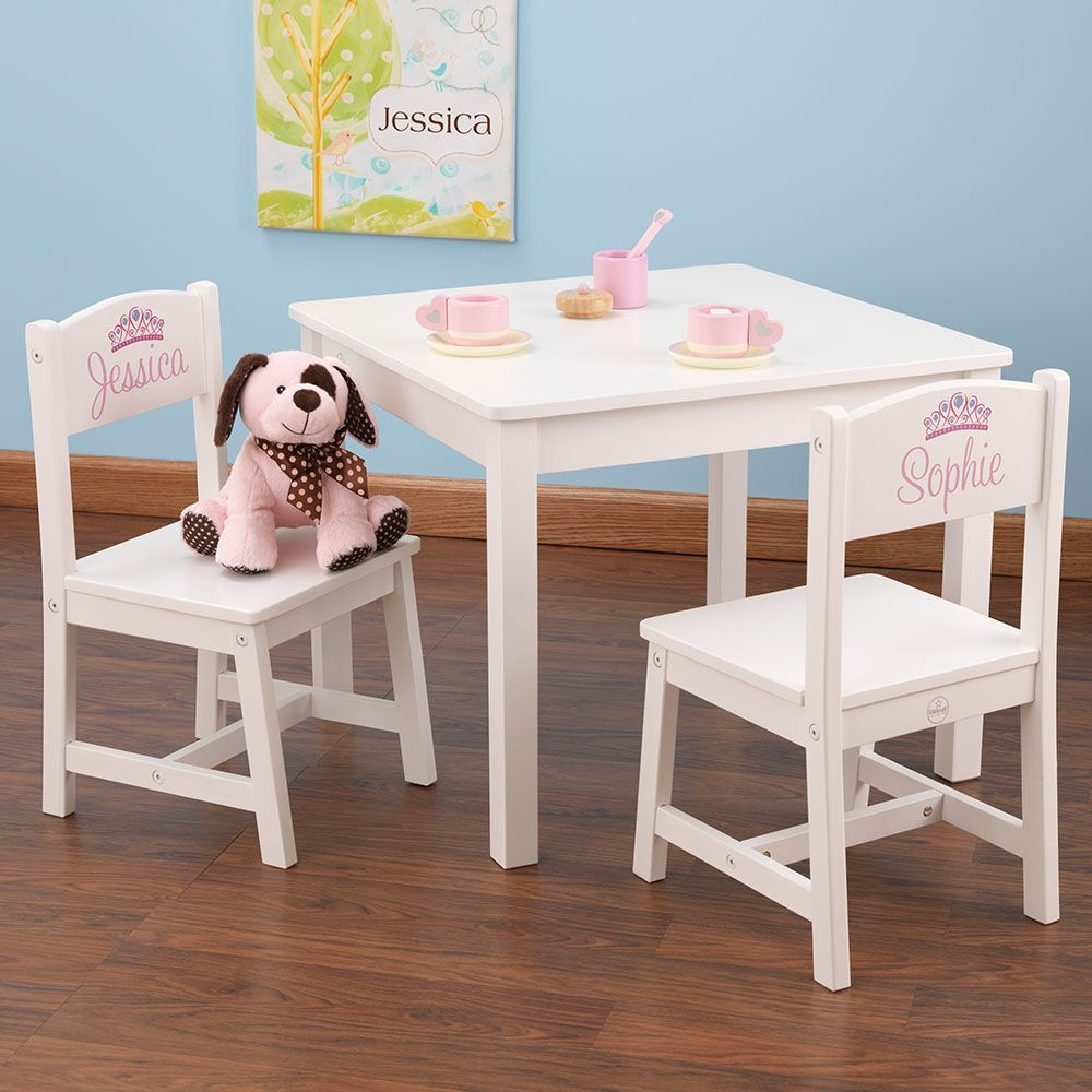 table et chaises enfant en bois blanc. Black Bedroom Furniture Sets. Home Design Ideas