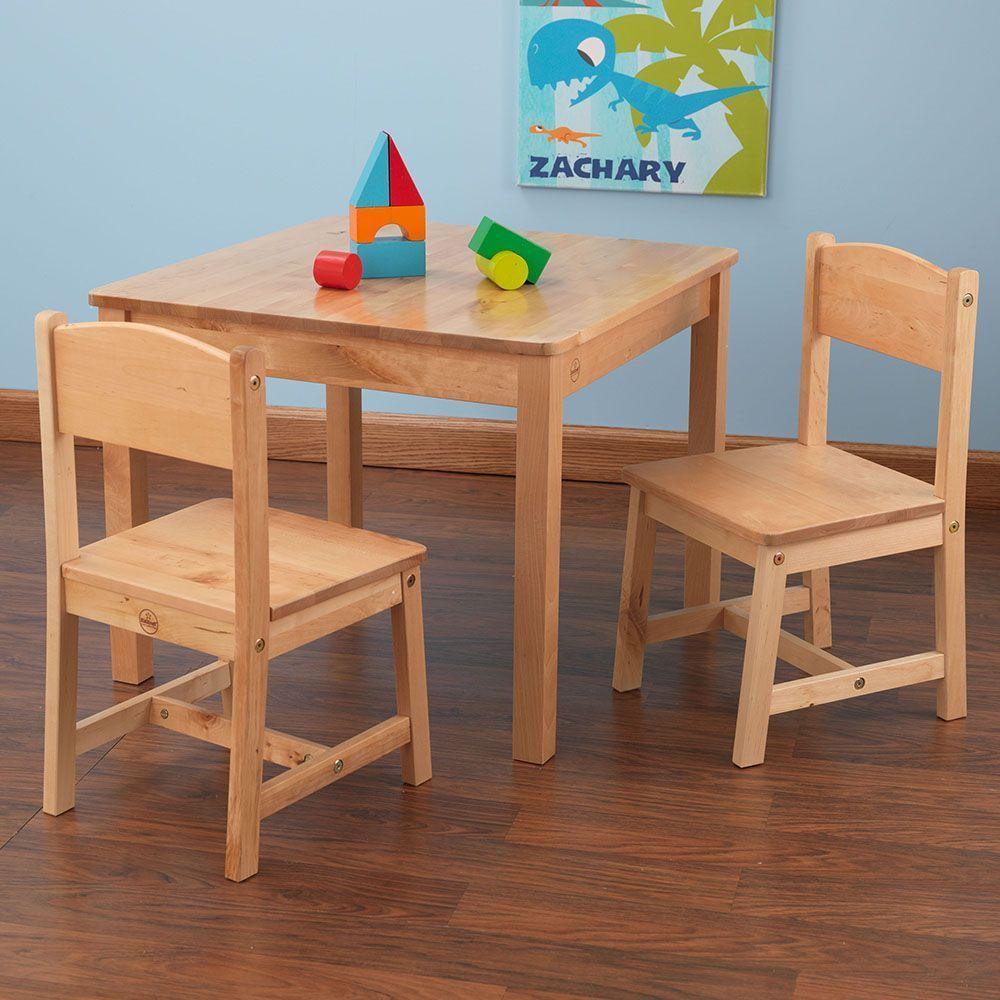 Table et chaises enfant en bois bois clair - Table chaise bois enfant ...