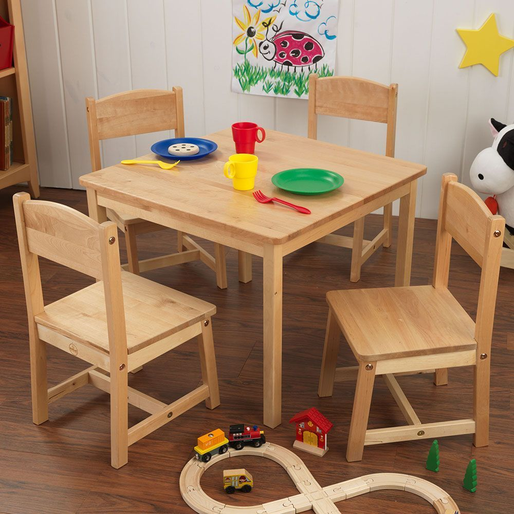 table et chaises enfant en bois. Black Bedroom Furniture Sets. Home Design Ideas