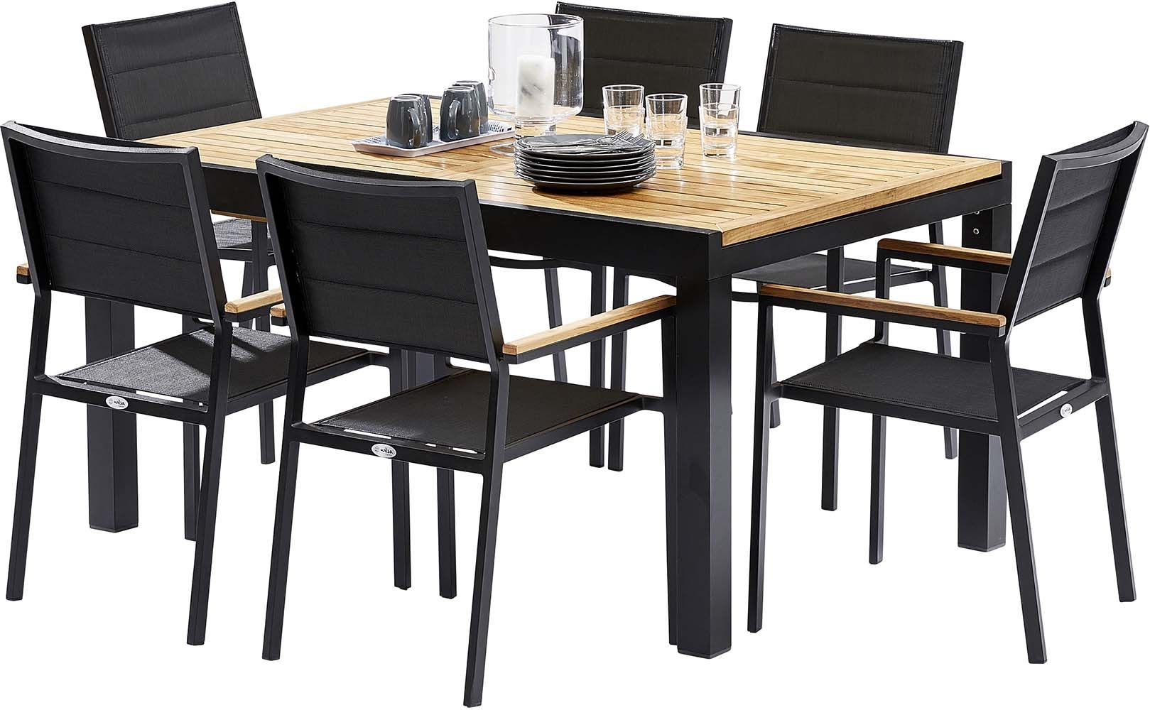 table et chaises de jardin moderne bali. Black Bedroom Furniture Sets. Home Design Ideas