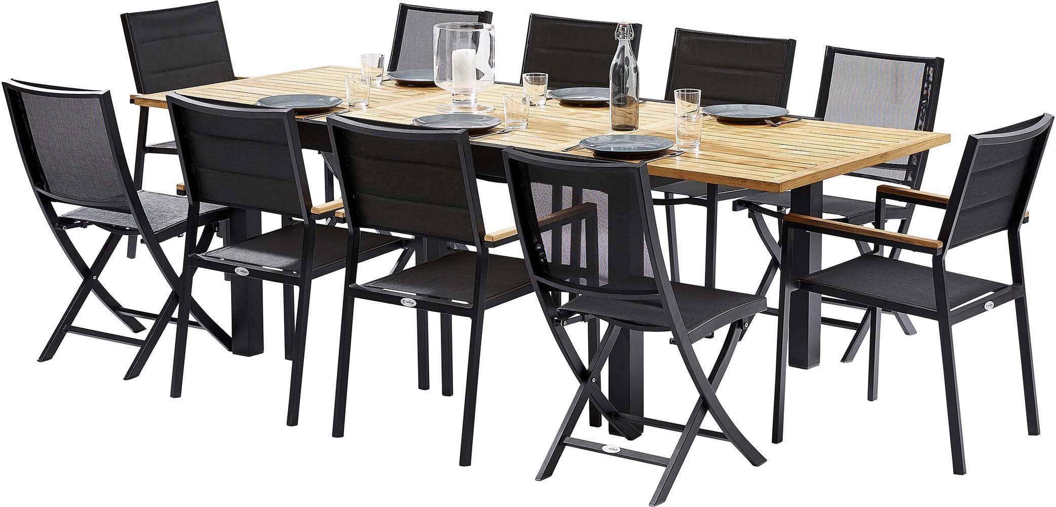 Table et chaises de jardin moderne bali - Table jardin moderne dijon ...