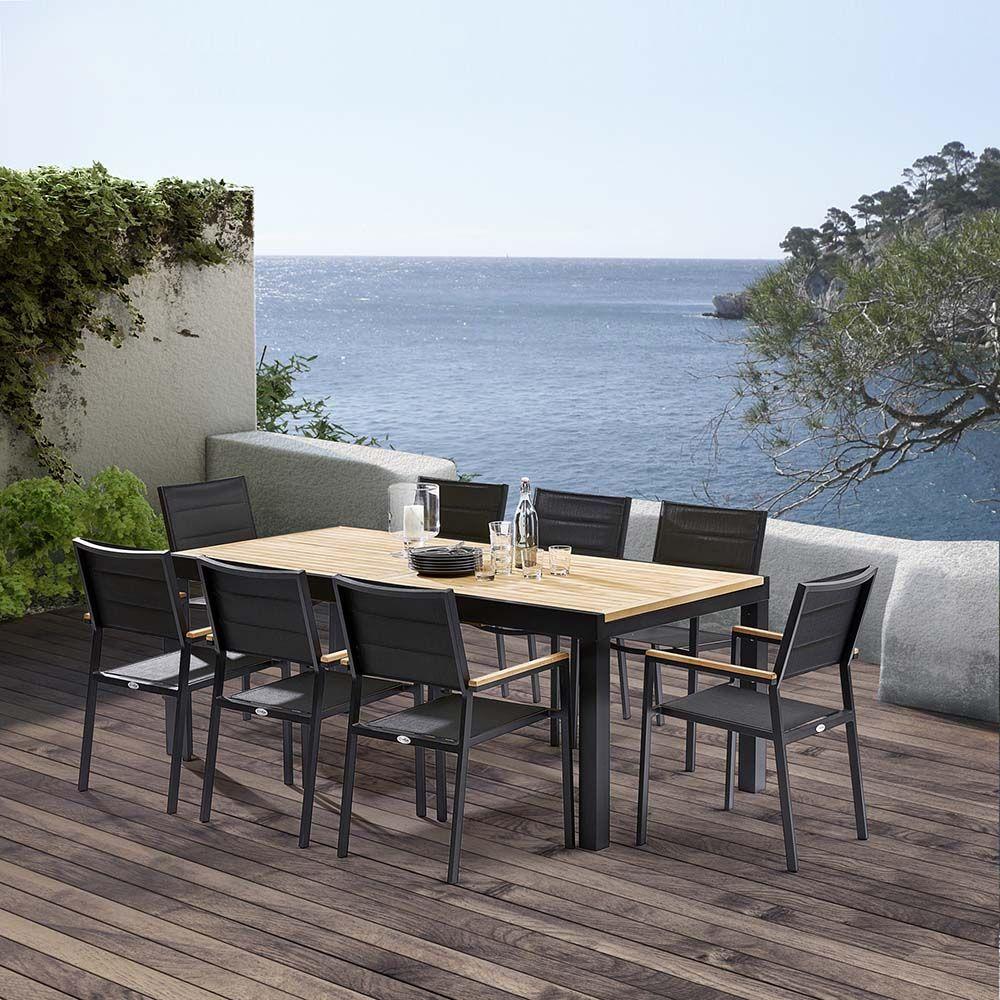 table et chaises de jardin moderne bali. Black Bedroom Furniture Sets. Home Design Ideas