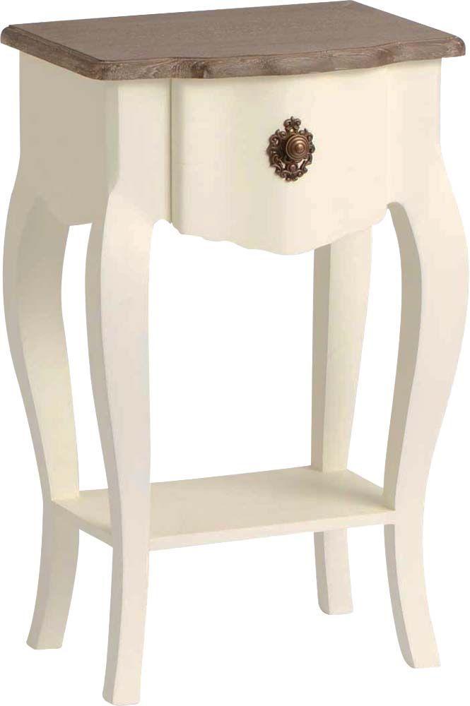 table de chevet blanche celestine en bois mdf. Black Bedroom Furniture Sets. Home Design Ideas