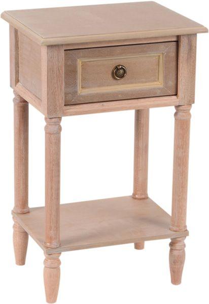 table de chevet tiroir bois naturel vieilli. Black Bedroom Furniture Sets. Home Design Ideas