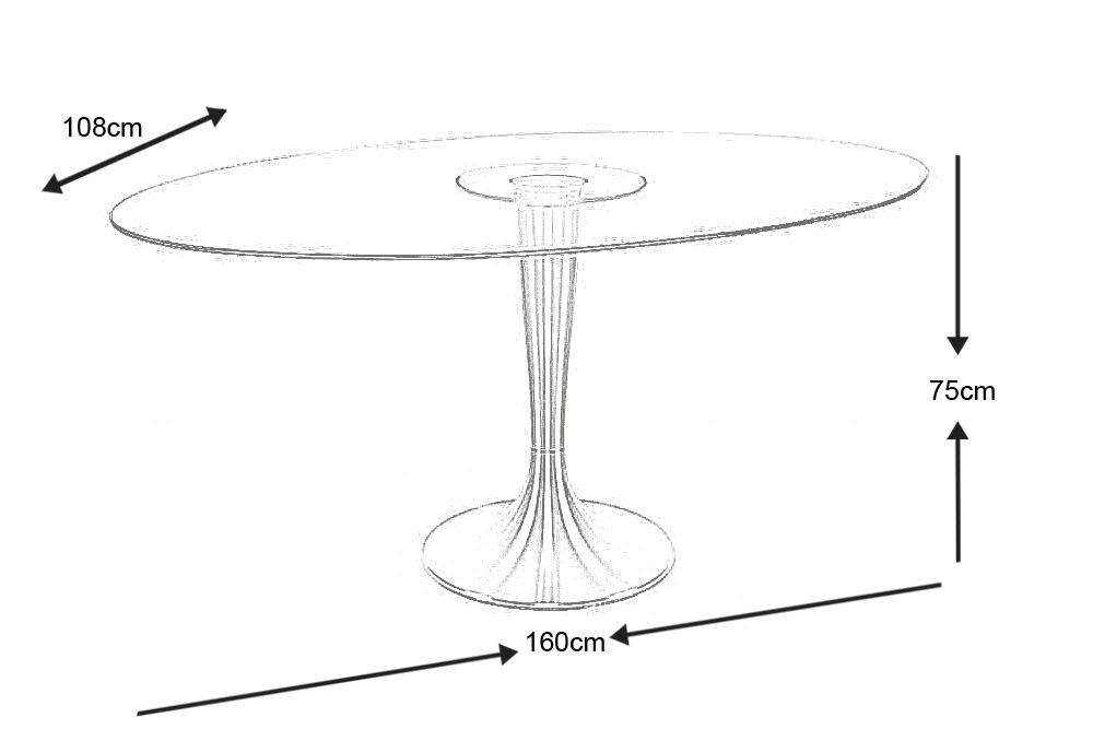 Table design Ovalina 160cm-1