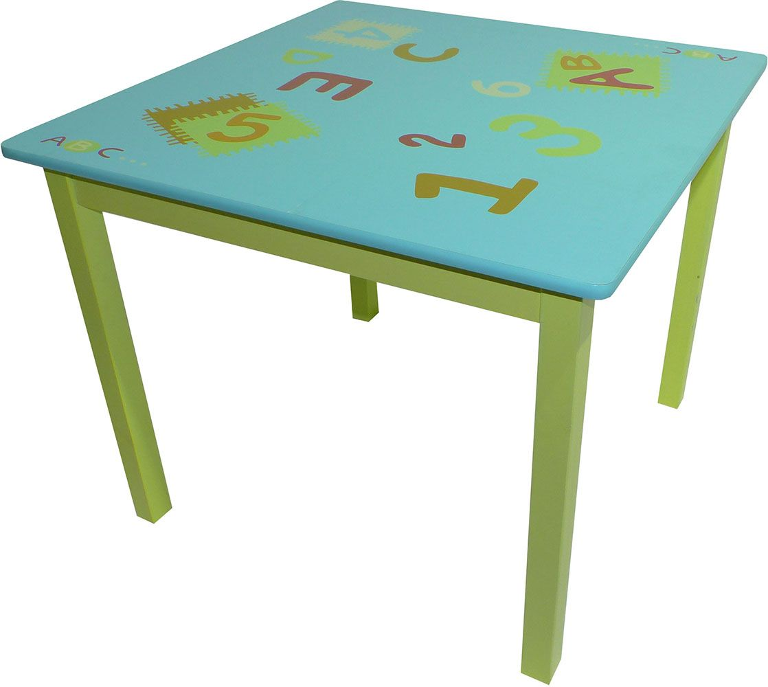 table pour enfant abc. Black Bedroom Furniture Sets. Home Design Ideas