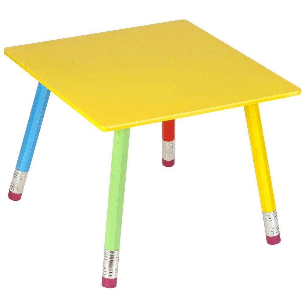 table enfant crayons. Black Bedroom Furniture Sets. Home Design Ideas