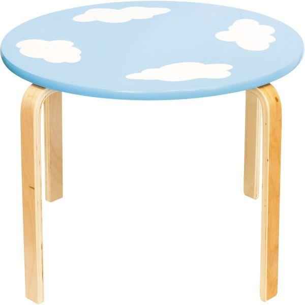 Table pour enfant nuages - Table ronde pour enfant ...