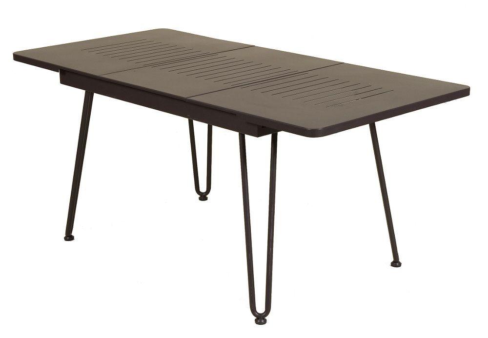table de jardin extensible pied central. Black Bedroom Furniture Sets. Home Design Ideas