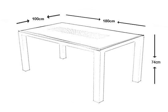 Table de jardin Florence 180cm-3