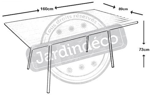 Table de jardin Menu lemon 160cm-2