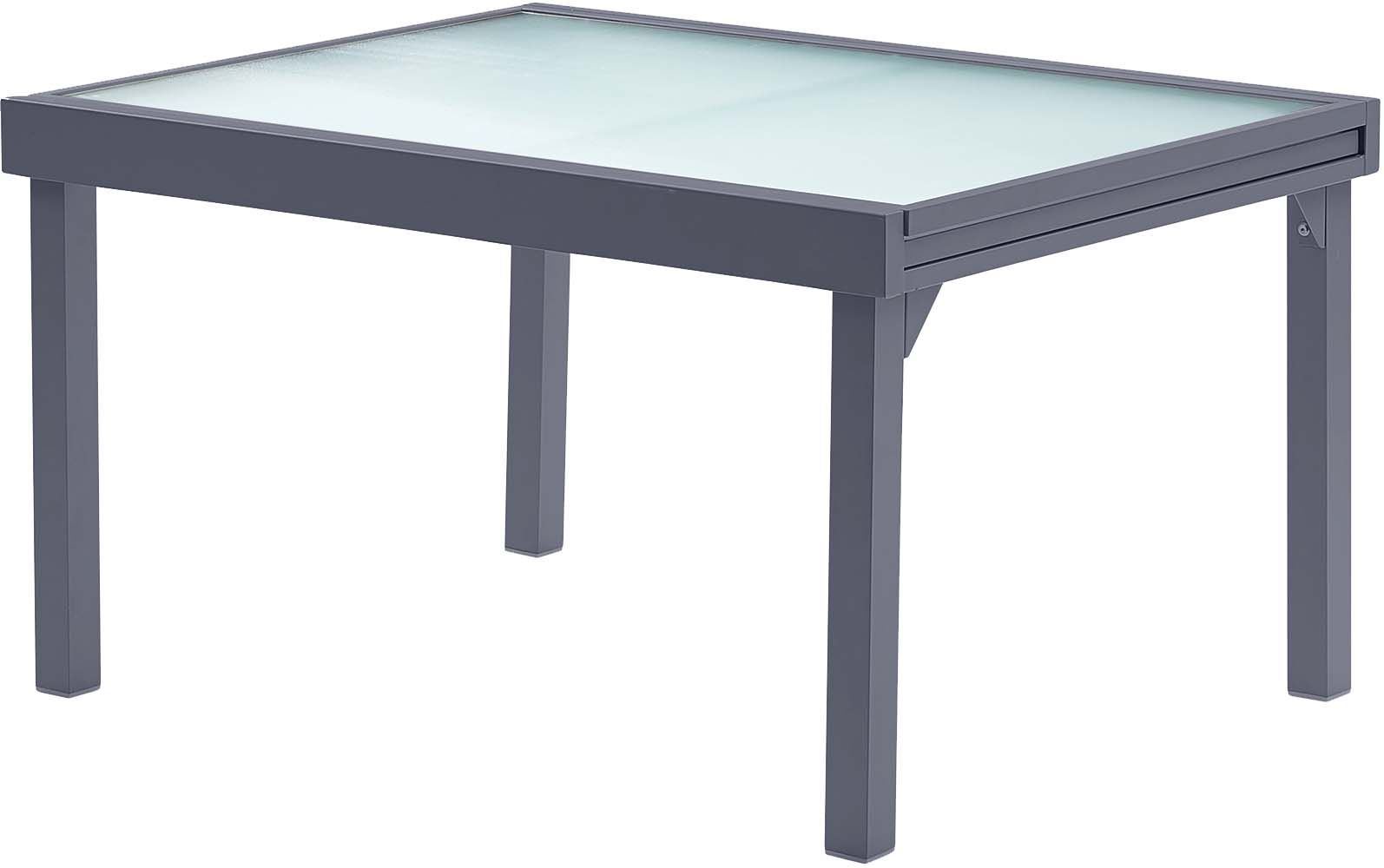 Table jardin modulo 6 10 personnes gris for Table 6 10 personnes