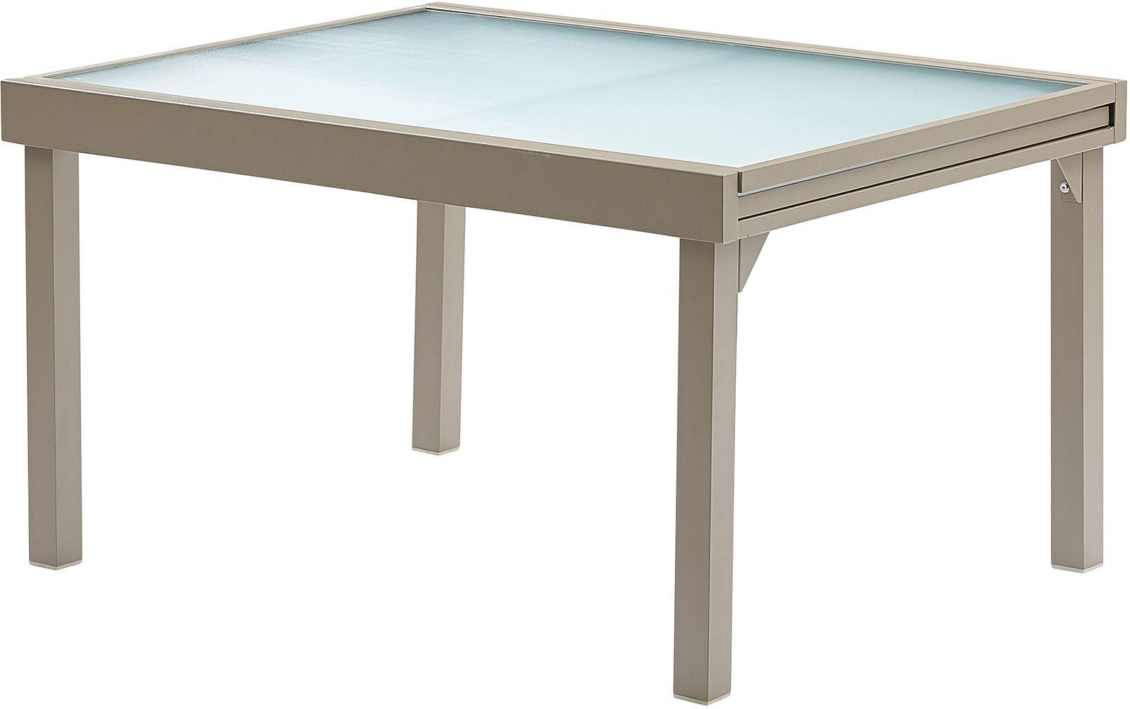 table jardin modulo 6 10 personnes taupe. Black Bedroom Furniture Sets. Home Design Ideas